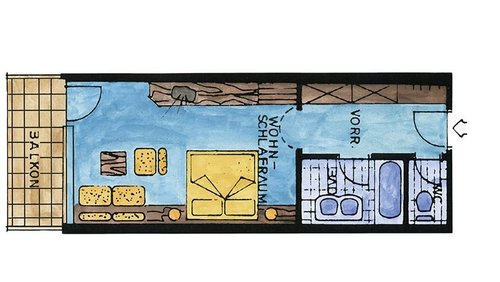 großes Doppelzimmer Süden