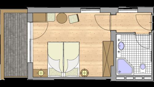 Zirbenholz Doppelzimmer3